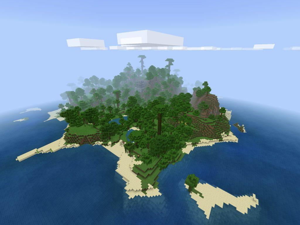 Massive Minecraft PE Jungle Island Seed