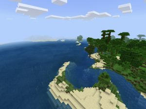 Minecraft PE Seed: Jungle Tropical Beach