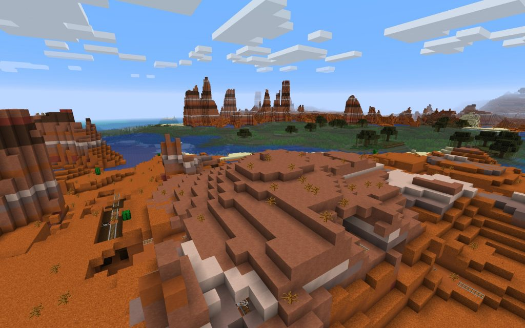 Eroded Badlands, Swamp and Coral Reef Minecraft Seed