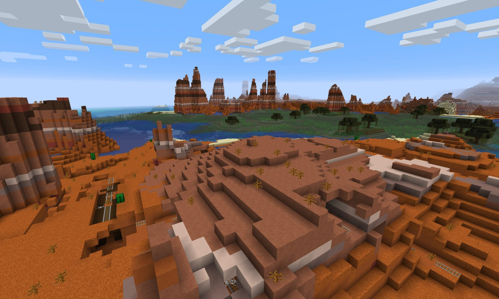 Minecraft Seed: Badlands, Swamp and Coal Reef (Java Edition)