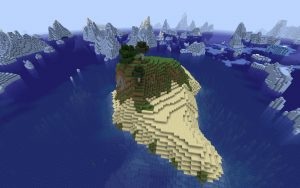 Minecraft Seed: Island in Iceberg Flow