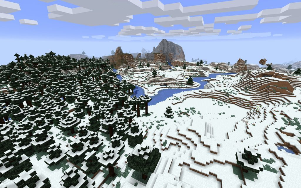 Snowy Winter Scene plus Igloo w/Basement for Java Edition