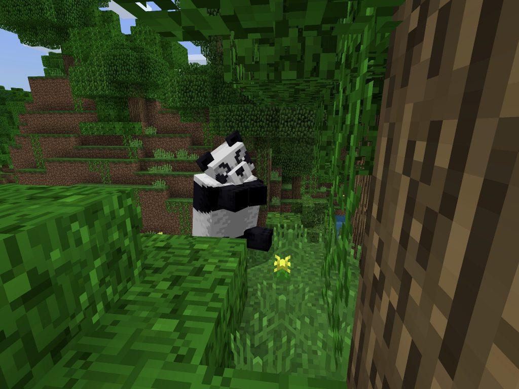 Sitting Panda Bear - Minecraft Seed for PE