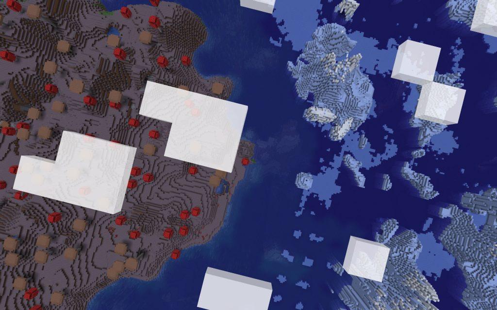 Mushroom Island Meets Icebergs (Java Seed)