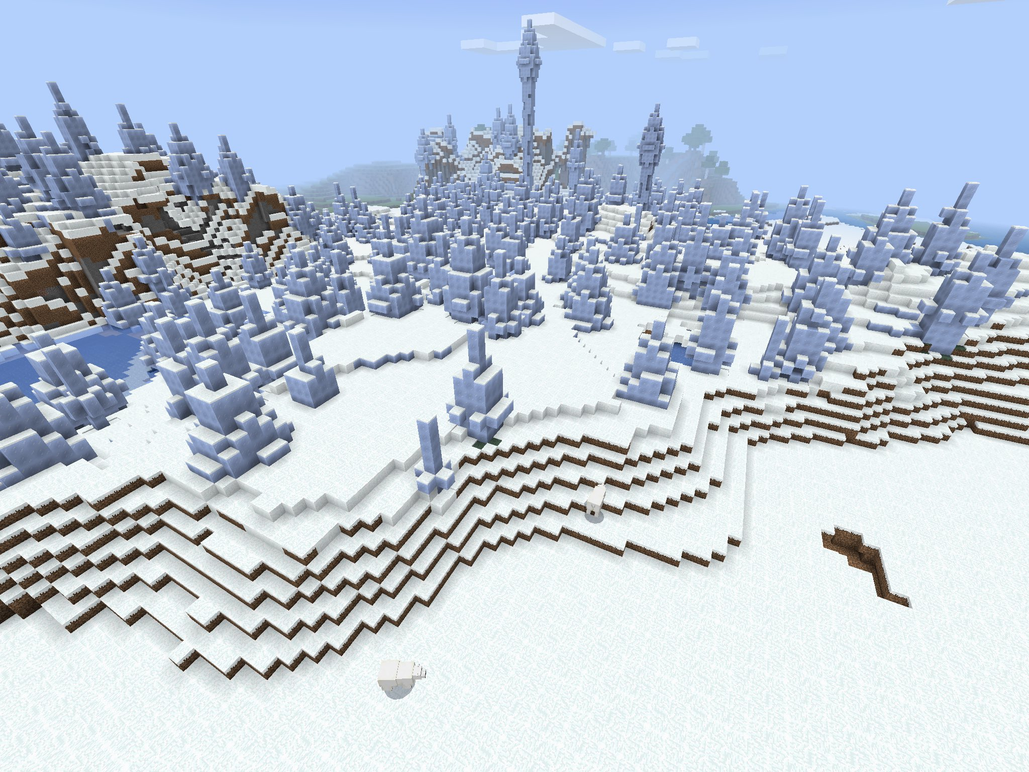 Minecraft PE Seed - Ice Spike Biome/Polar Bears