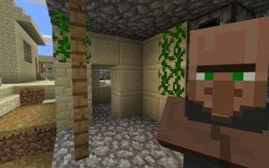 Minecraft Seed: Desert Blacksmith Village in Jungle