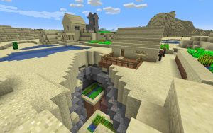 Fishing Village Complete with Ocean Ruin - Ocean Ruin Seed