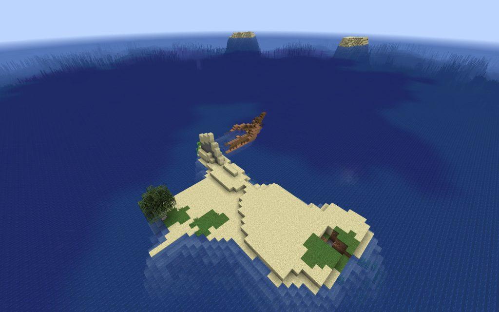 Shipwreck Survival Island – Minecraft 1.13 Seed