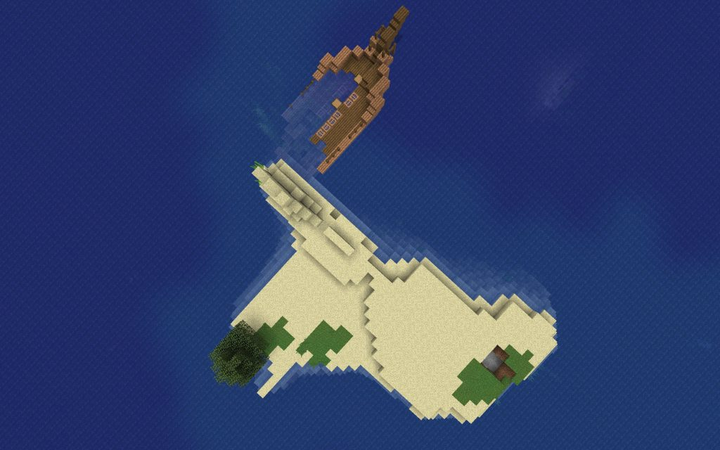 Shipwreck Island from Above