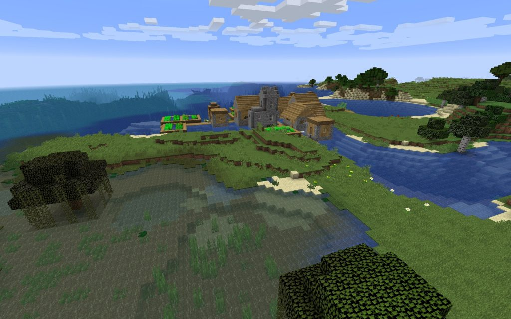 Swamp and Several Shipwrecks – Minecraft Seed