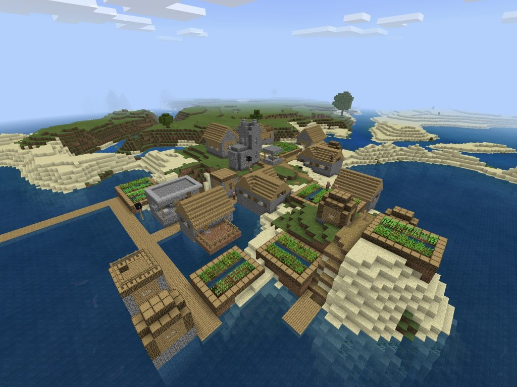 Blacksmith Village - Bedrock Edition Minecraft Seed