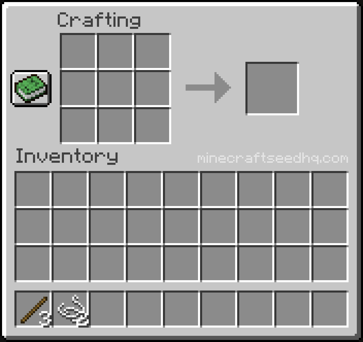 Minecraft Make a Fishing Rod - Step 1