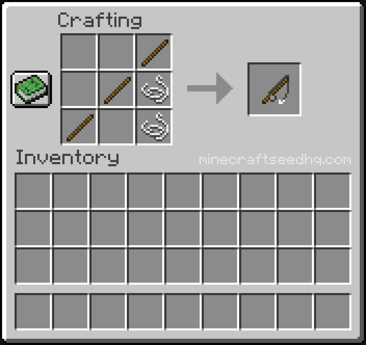Minecraft Make a Fishing Rod - Crafting Recipe