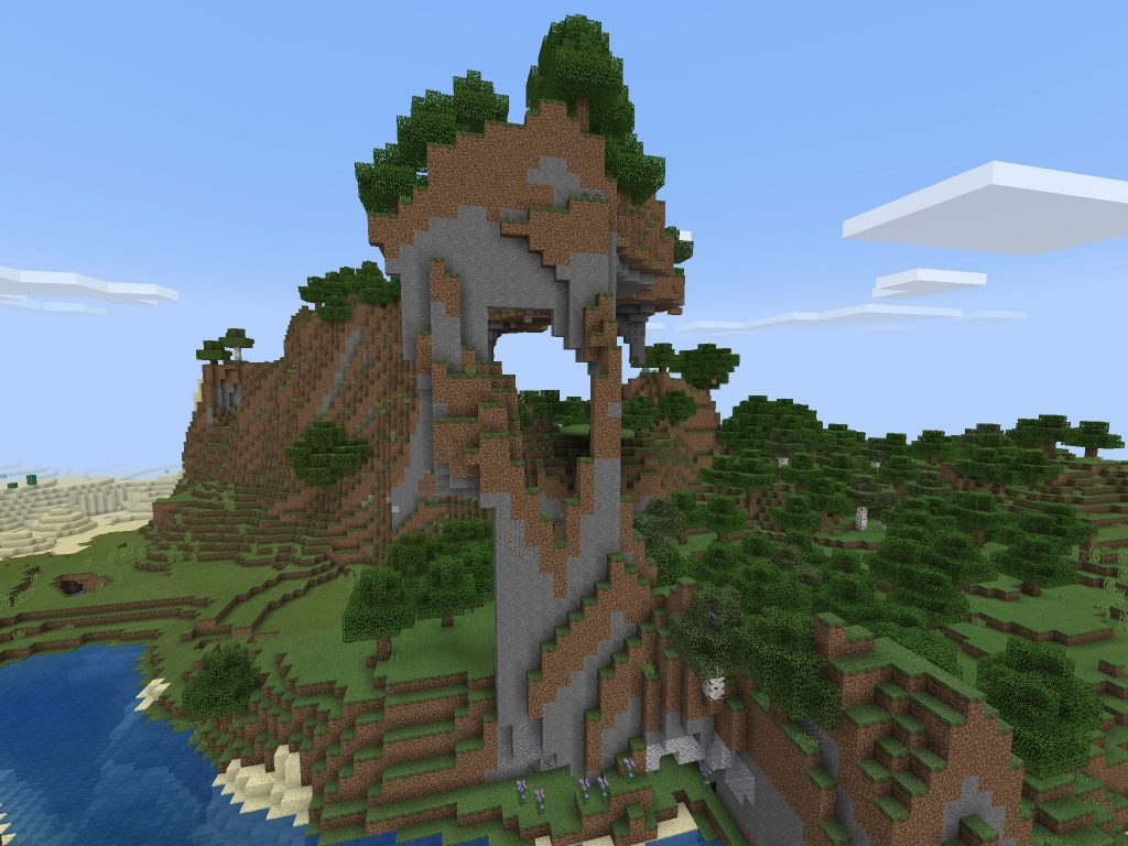 Mountain PE Mountain Seed for Bedrock Edition