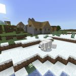 Blacksmith Village on Snowy Shore [Minecraft PE Seed]