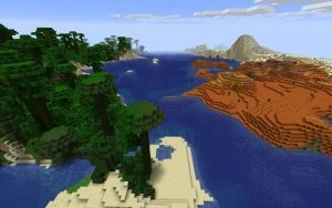 Minecraft Seed - Biomes: Jungle, Mesa and Desert