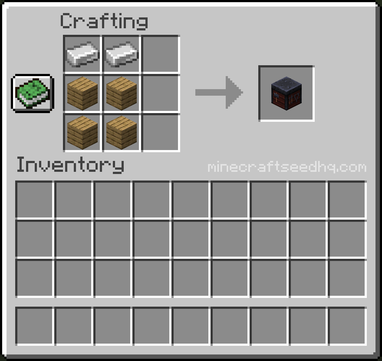 Minecraft How to Make a Smithing Table - Crafting Recipe - Step 2