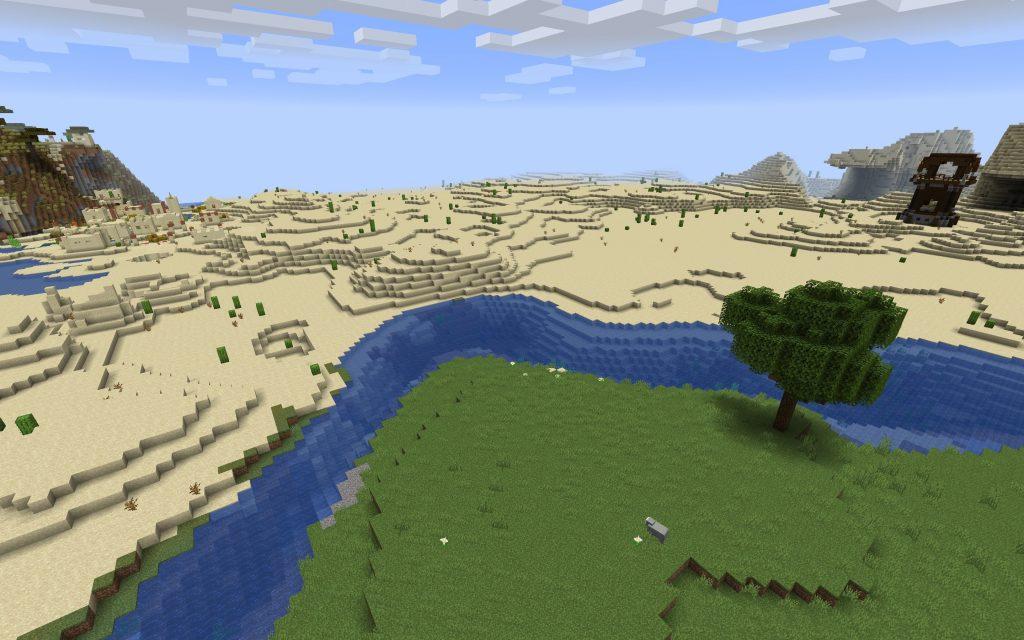 Desert Village Relative to Pillager Outpost