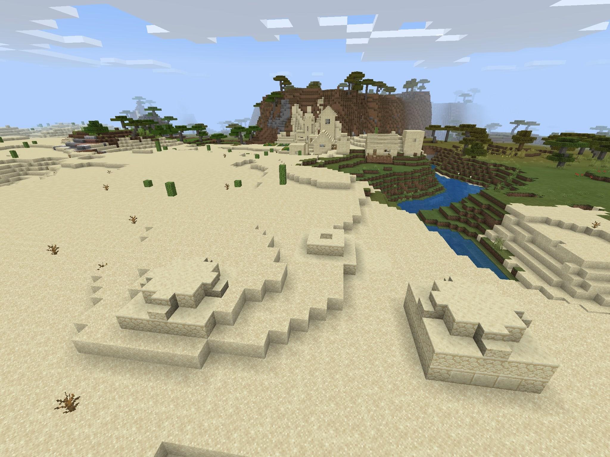 Minecraft PE Seed - Bedrock Loot