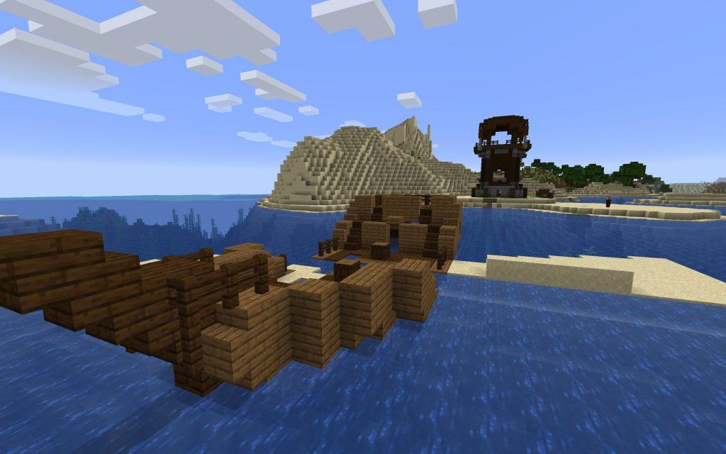 Shipwreck and Pillagers Holding Iron Golem Hostage [Java 1.14]
