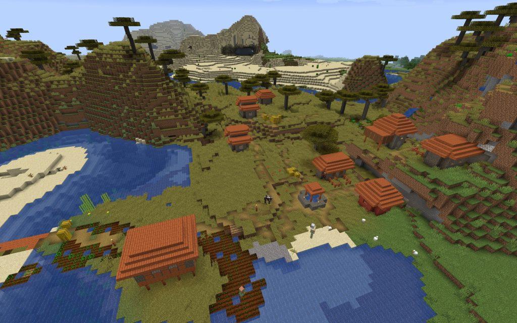 Savanna Village - Minecraft Seed