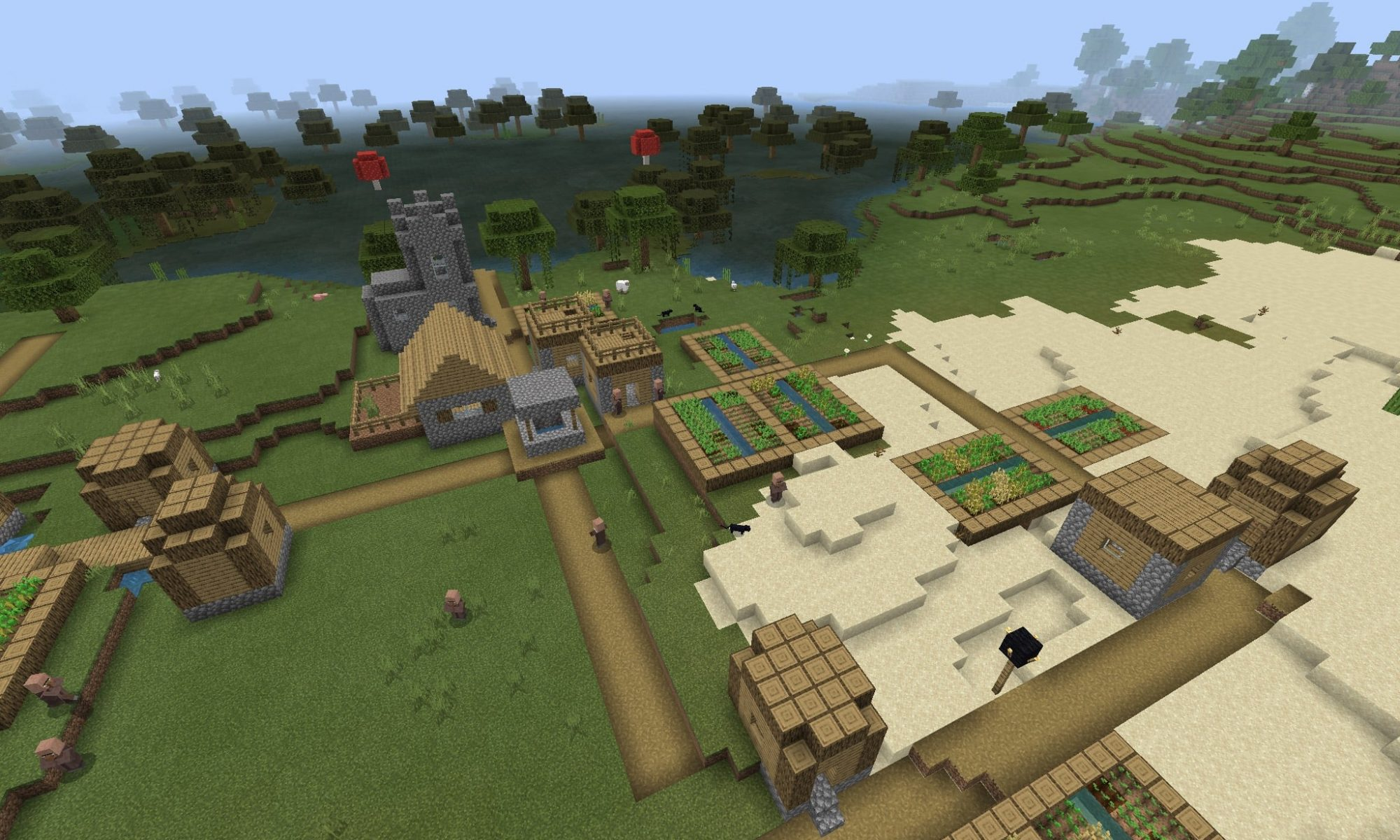 Stronghold Seed Over Village - Minecraft PE Seed