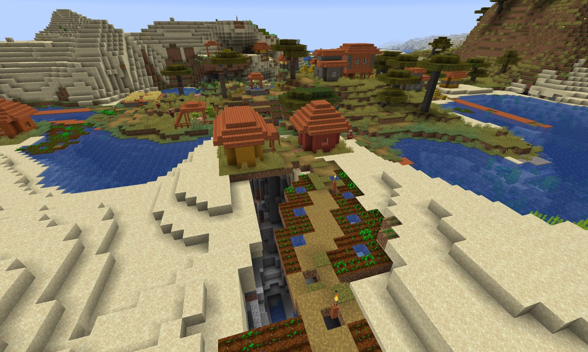 Abandoned Mineshaft Minecraft Seed - Ravine Farm