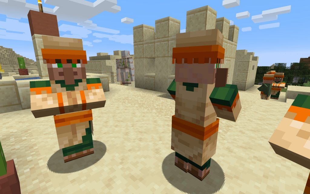 Villager and a Golem