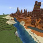 Bedrock Badlands with Exposed Spawner and Ravine Dungeon [1.11, 1.12+]