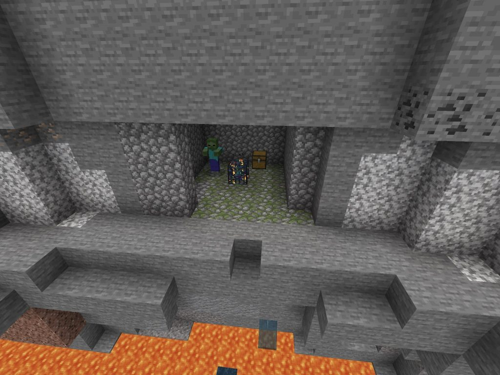 Exposed Dungeon and Spawner Ravine