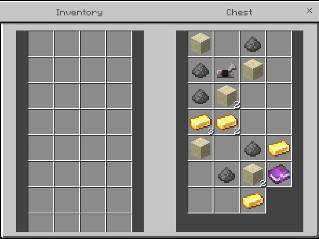 Gold Ingots and an Enchanted Book