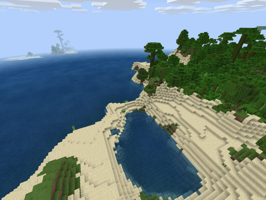 Jungle Biome, Ocean, Beach