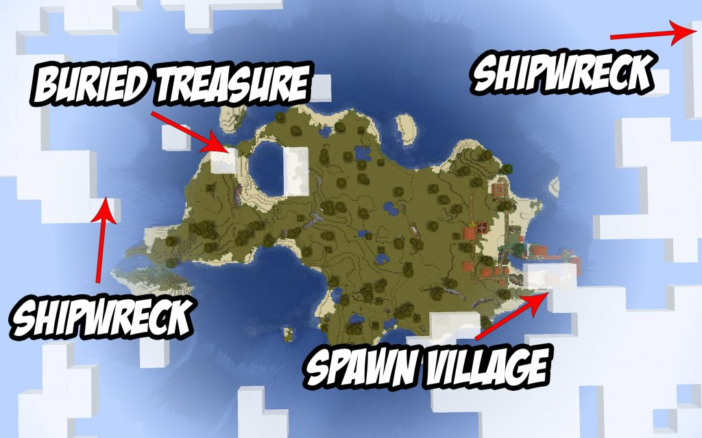 Minecraft Map - Island, Loot