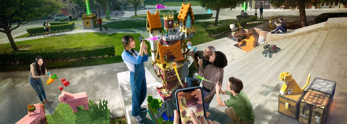 Minecraft Earth - NEW Minecraft Augmented Reality Game