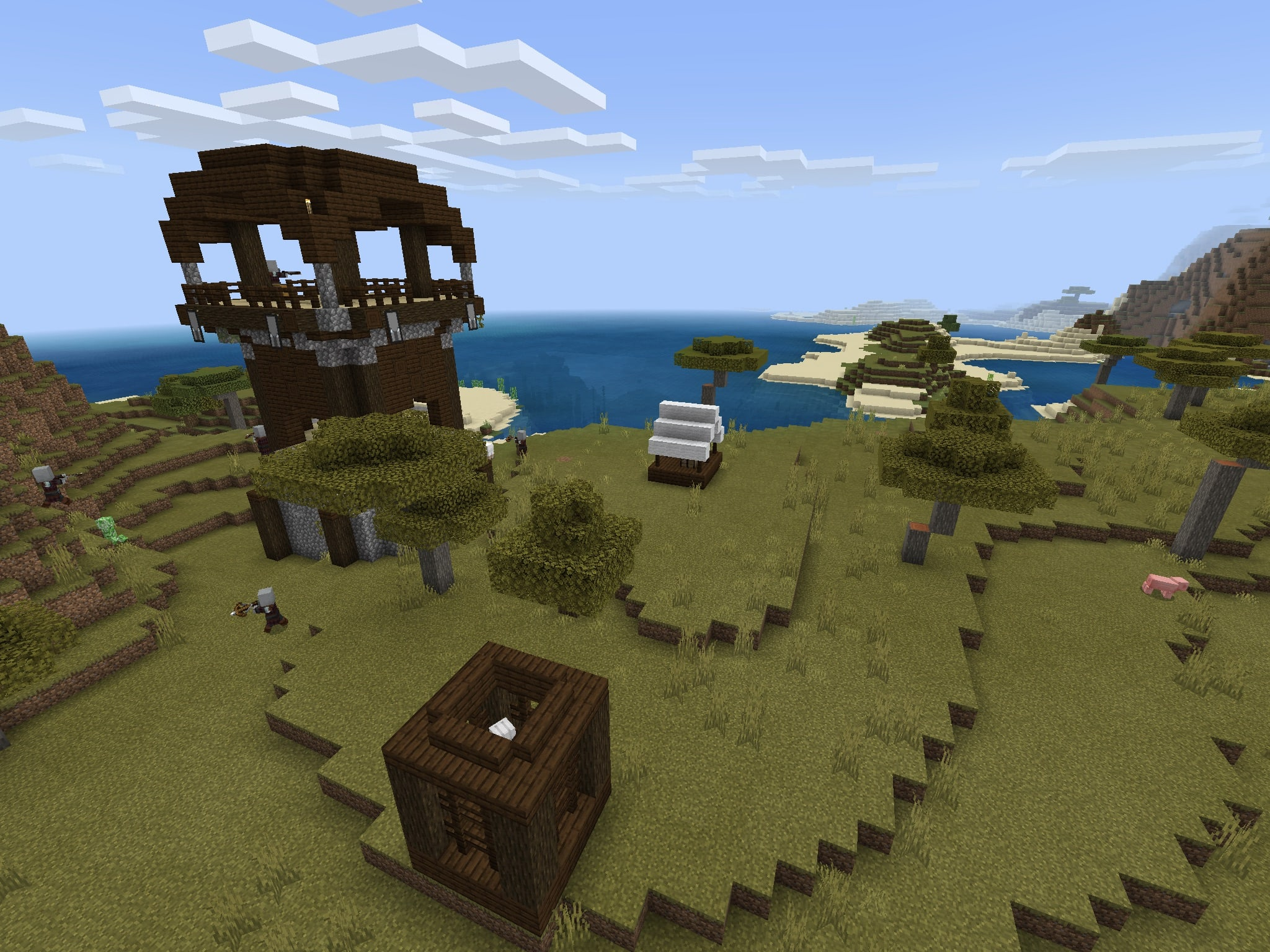 Minecraft PE Pillager Outpost Seeds/Bedrock Edition Pillager