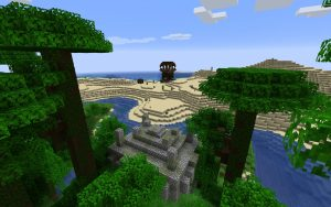 Minecraft Seed - Jungle Pyramid, Pillager Outpost