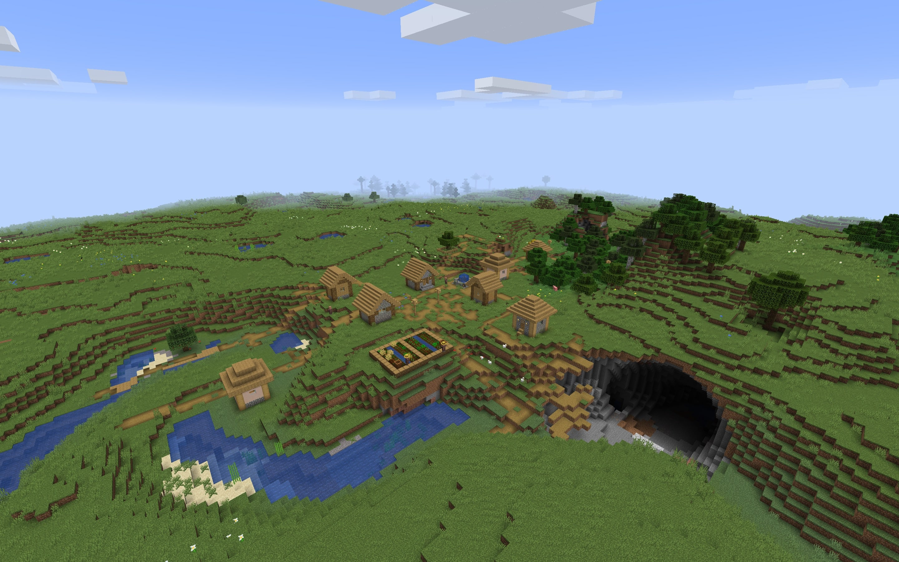 Minecraft Seed - Meteor Strike Village