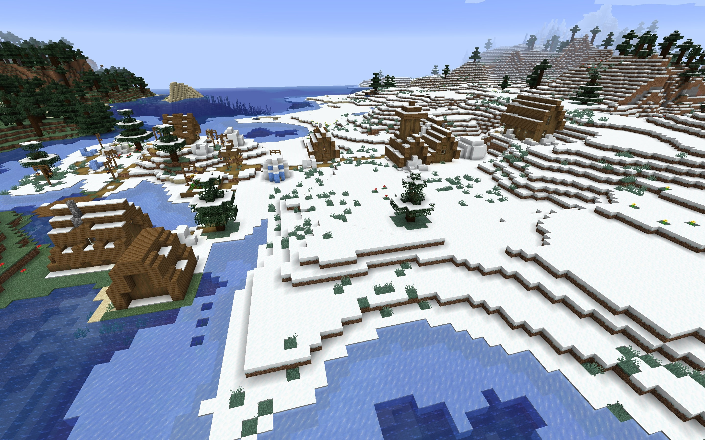 Snow Village Minecraft Seed for 1.14