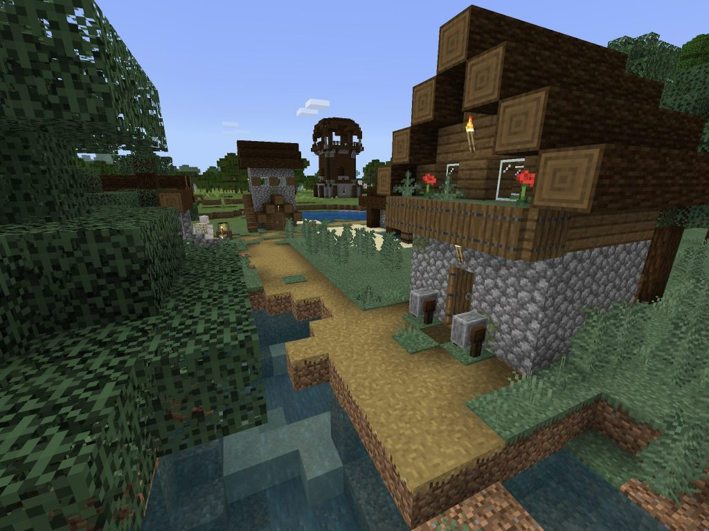 Villagers Beside Pillagers [Minecraft PE/Bedrock Seed]