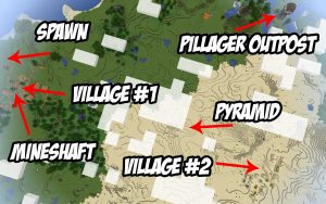 Minecraft Seed - Awesome Spawn - 1.14