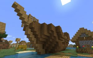Minecraft 1.14 Seed - Shipwreck in Village