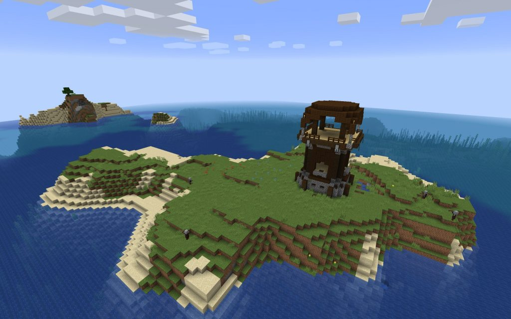 Pillager Outpost Island – Minecraft 1.14 Seed