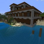 Cool Mansion and Shipwreck Minecraft PS4 Seed