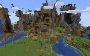 Minecraft Seed - Shattered Savanna Biome and Village