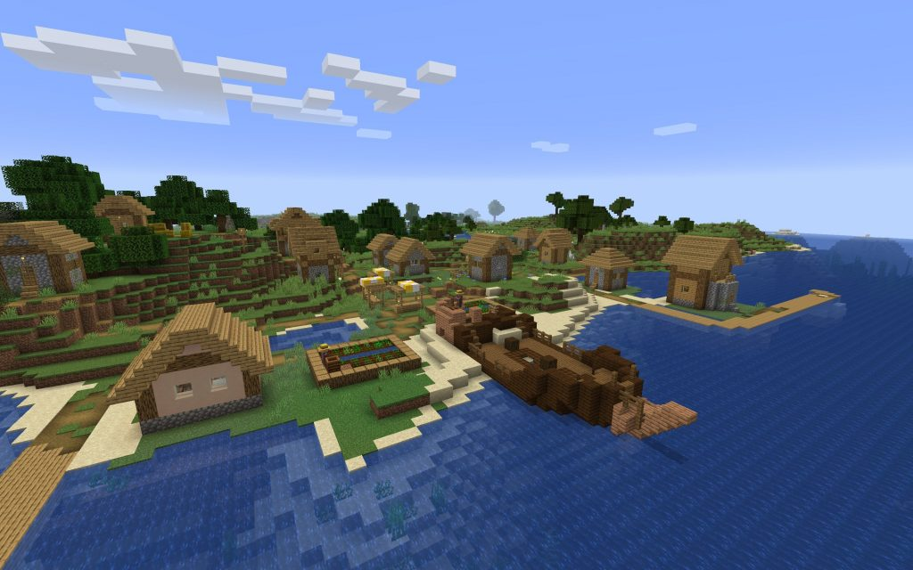 Shipwreck Village with Stonecutter Minecraft Seed [Java]