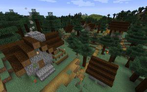 Minecraft Seed - Taiga Village