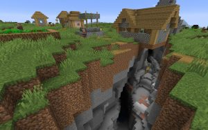 Minecraft 1.14 Seed - Ravine and Village