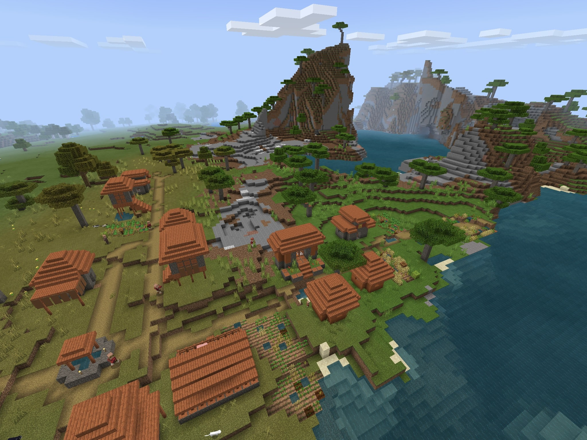 Savanna Villages On The Great Plains Minecraft Pe 112 Seed