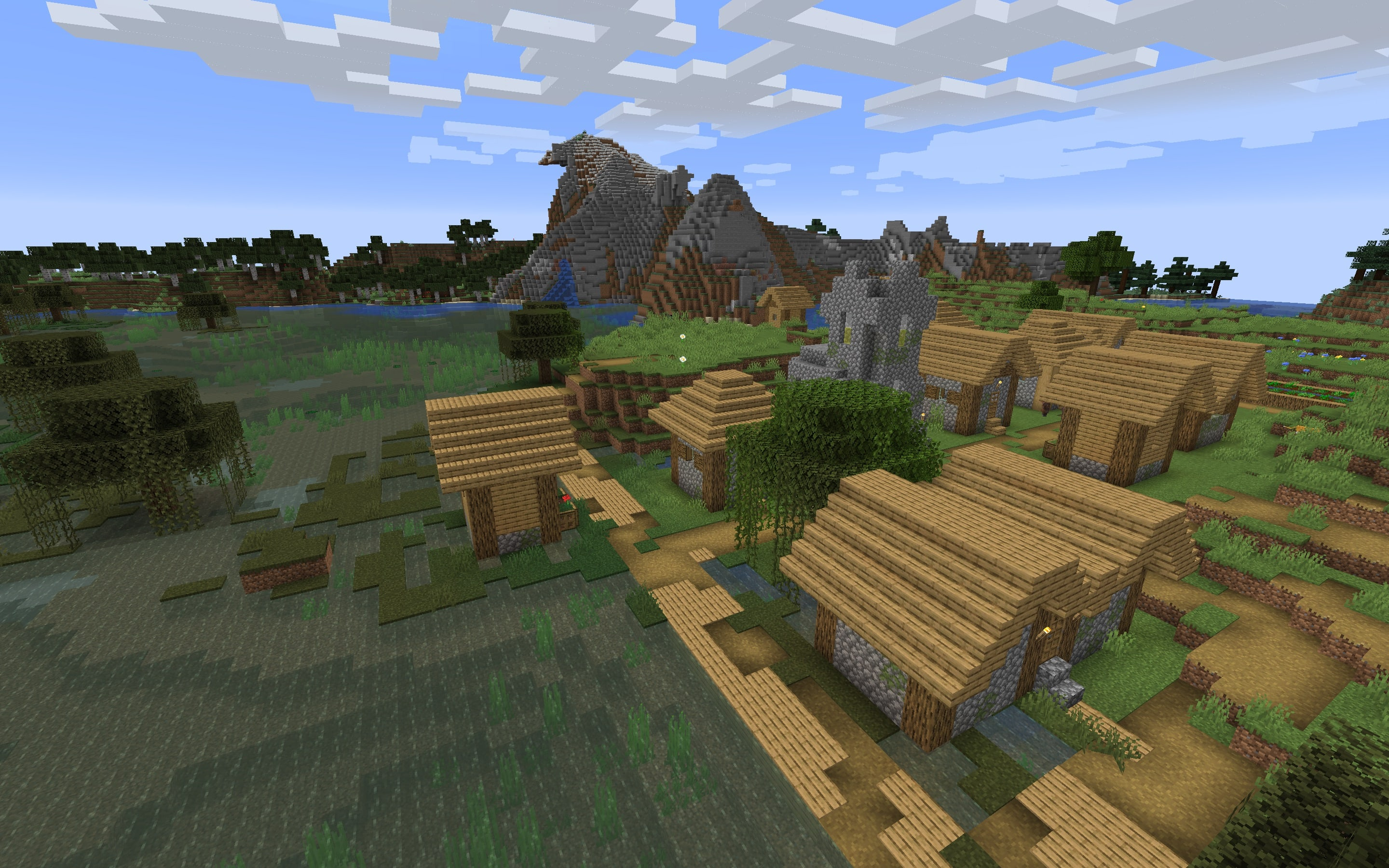 Swamp Biome Village Minecraft 1.14 Seed