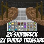 2x Buried Treasure Map Seed for Minecraft 1.14